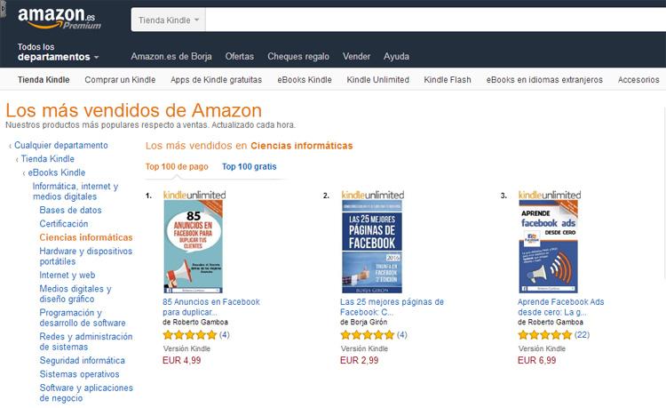 Top 2 ebooks más descargados en Amazon - Las 25 mejores páginas de Facebook