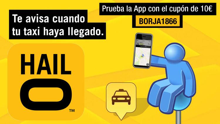 código cupón descuento taxi Hailo