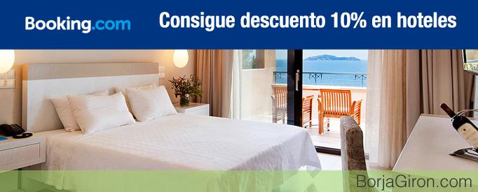 Código Cupón descuento Hoteles Booking 10%