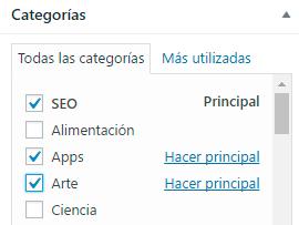 categoria principal rel canonical wordpress