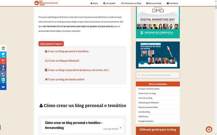 contenido calidad blog