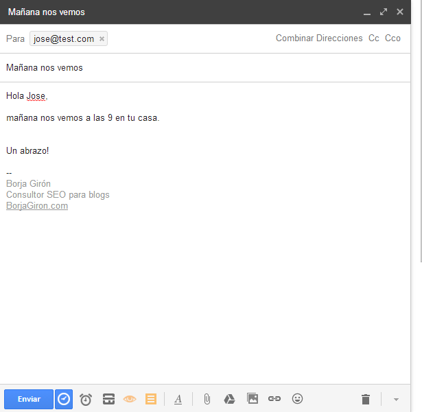 envio email personal