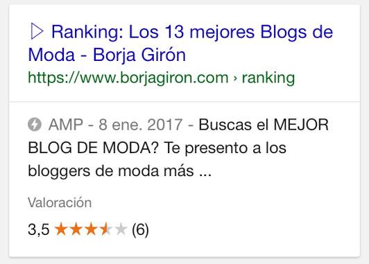 amp resultados google