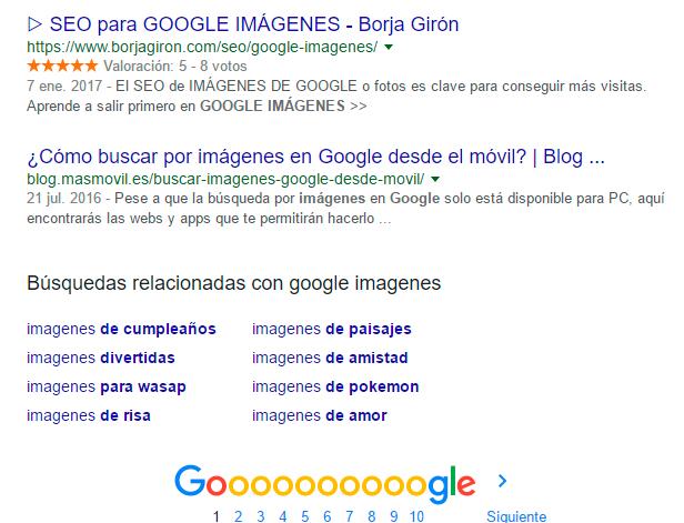 resultado google imagenes sin AMP