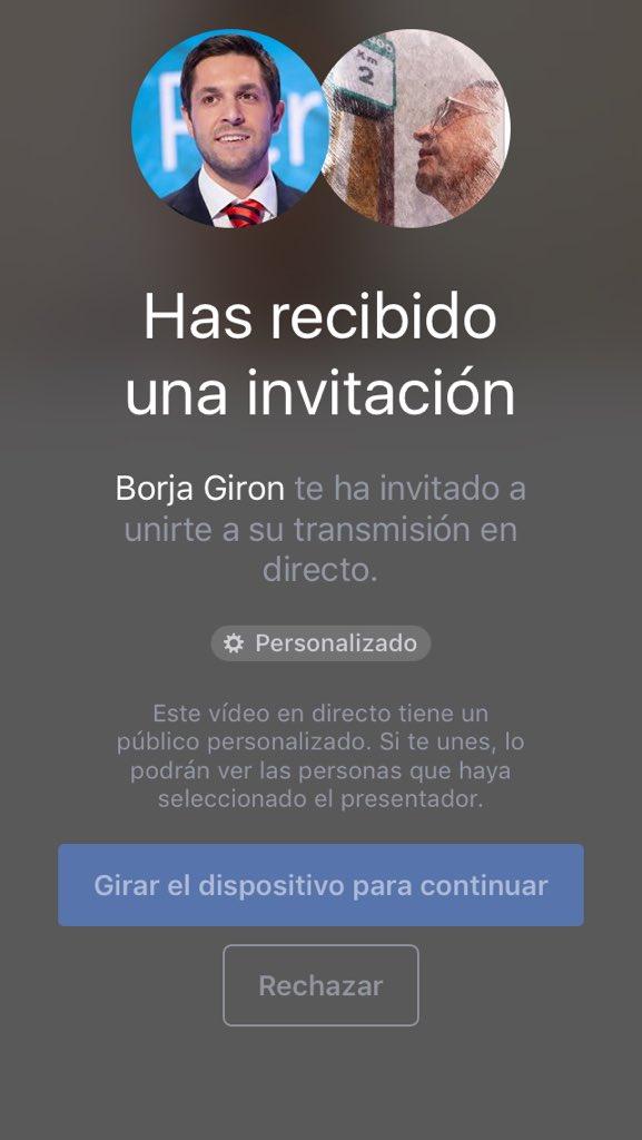 aceptar invitacion facebook live