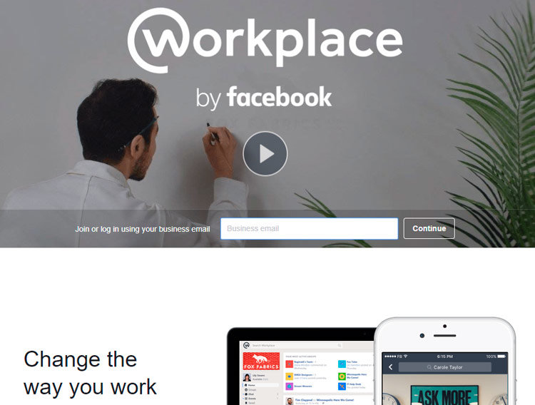 facebook y workplace