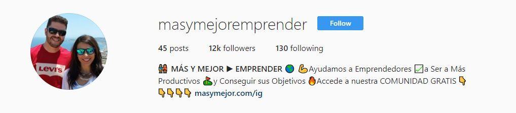masymejor emprender instagram