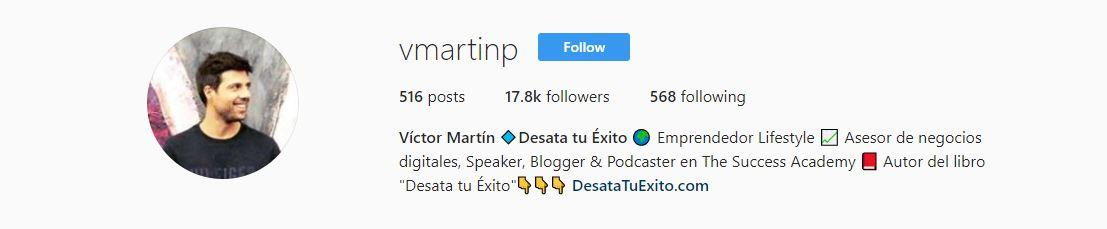 victor martin descripcion instagram