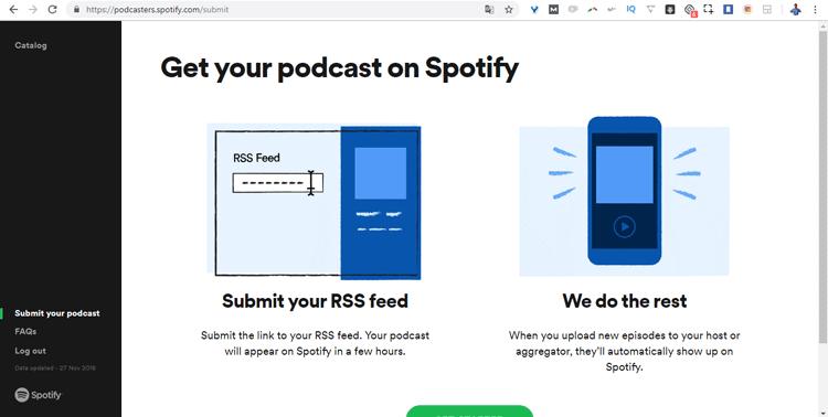 Subir podcast Spotify nuevo RSS
