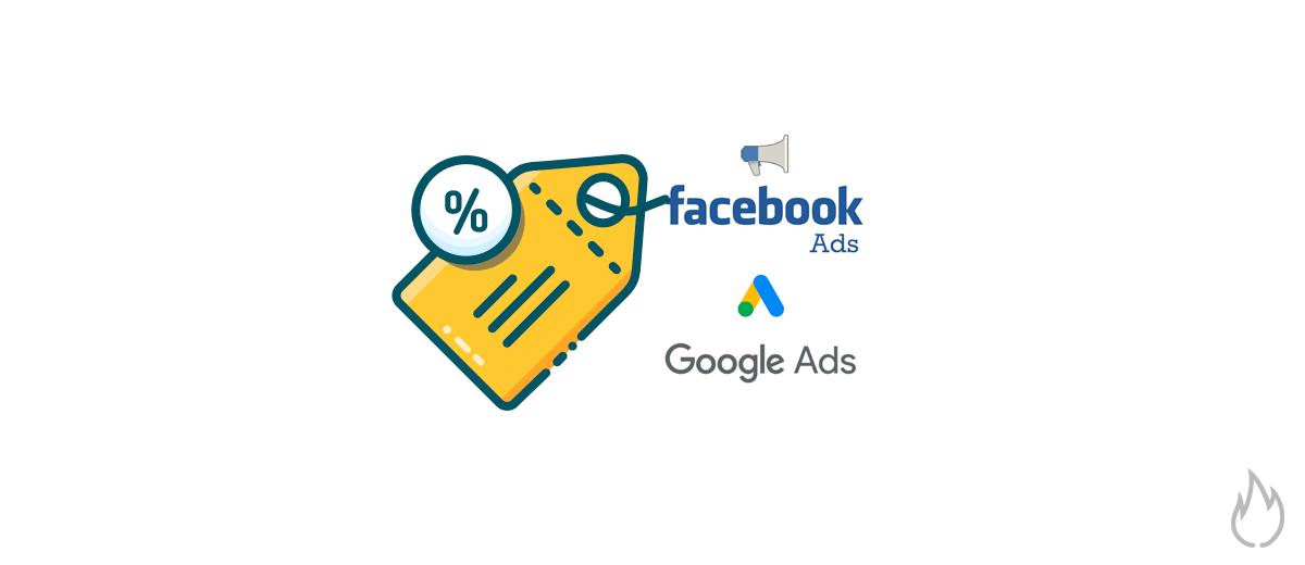 Codigo cupon descuento facebook ads google ads