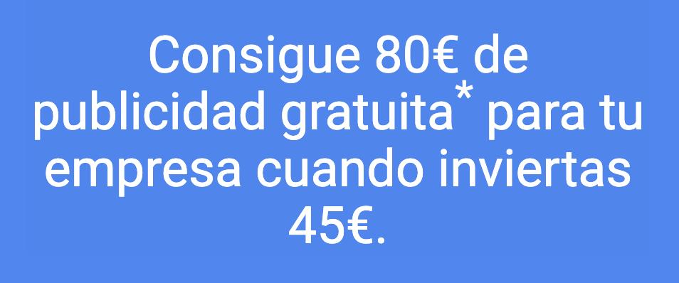 cupon 80 euros google ads 2020