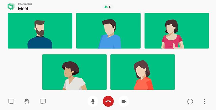 videoconferencia gratis infomaniak meeting
